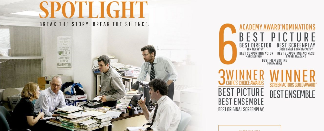 The movie 'Spotlight' and the church's need for outsiders