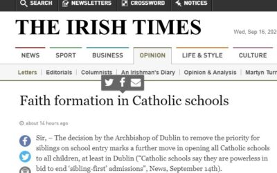 Irish Catholic Schools Cannot Form Catholic Faith